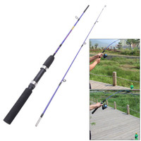Wholesale Spining Rods - New Fishing Pole 1.2m Portable Fiber Reinforce Plastic Lure Rod Telescopic Fishing Rod Spining Fishing Tackle Winter Fly Casting
