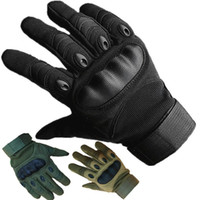 Wholesale Full Finger Armor - 2017 Outdoor Tactical Gloves Full Finger Sports Hiking Riding Cycling Men's Gloves Armor Protection Shell Gloves