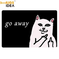 black and pink rugs - D Animal Bathroom Mats Cat Go Away Carpets Pink Black Thin Rugs and Carpet for Home Living Room Bedroom Floor Mat