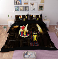 Wholesale Twin Football Comforter Set - Fashion Bedding Set Football Team Pattern Queen & King Size Duvet Covers Polyester Bed Linen Wholesale Mix order 4Pcs or 3Pcs