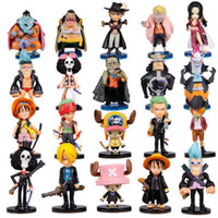Wholesale Wholesale Japan Anime Collection - Anime One Piece Figures Q Version Luffy Zoro Chopper PVC Action Figure Toys Model Collection Japan Animation 20pcs set