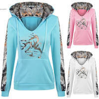 Wholesale Pink Womens Hoodie L - 2017 Fashion hoodie for womens tops plus size clothing Pullover Patchwork Hooded Sweatshirts Casual Long Sleeve S M L XL