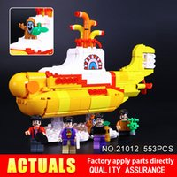 Wholesale Beatles Plastic - 2017 Lepin 21012 New 553Pcs The beatles yellow submarine Building Blcoks Bricks Toys 21306