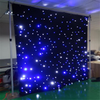Wholesale function jump - led star curtain 3mx8m wedding backdrop stage background cloth with multi controller dmx function