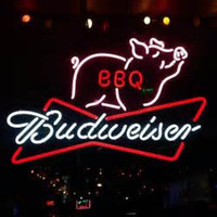 """Wholesale Bbq Signs - Brand New Budweiser BBQ Beer Bar Bud Light Barbecue Real Glass Neon Sign Light Beer Bar Pub Arts Crafts Gifts Lighting 20"""""""