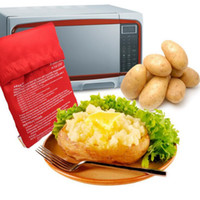 Wholesale Potato Express Microwave Bakeware Bag Cooker Cooking Tools Pocket Kitchen Steam Gadget Rushed Cozinha Washable Bags OOA1967