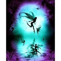 Wholesale Beautiful Craft Rooms - Beautiful fairy DIY Diamond Painting Embroidery 5D Cross Stitch Crystal Square Home Bedroom Wall Art Decoration Decor Craft Gift