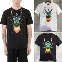 Wholesale T Shirt Eagle Women - Marcelo Burlon Men Women T-shirt MB Wings Paris Hip Hop Skateboards Harajuku Style Italy Summer Eagle Kanye T Shirts happy_weddings