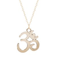 Wholesale new fashion jewlery - 10pcs lot New Fashion Gold And Silver Pendant Yoga OM Necklace Choker Charm Handmade Statement Jewlery