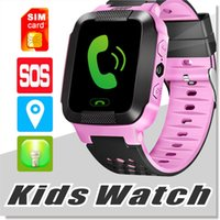 Wholesale Touch Watches Wholesale - 2017 Touch Screen Q528 GPS Tracker WatchAnti-lost Children Kids Smart watch LBS Tracker Wrist Watchs SOS Call For Android IOS