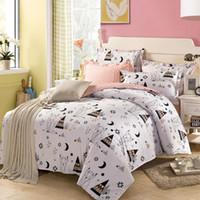 Wholesale Duvet Cover Cotton White King - Wholesale-Cotton Kids Bedding set,Cartoon White Duvet cover set Child Bedclothes,NO PILLING,Contain 1 Quilt cover 2 Pillowcase#DP15
