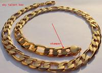 ingrosso la catena di collegamento dell'oro 24k-NUOVI UOMINI HEAVY 12mm STAMP 24K REAL YELLOW SOLID GOLD GF FINITURA AUTENTICA MIAMI CUBAN LINK CATENA COLLANA