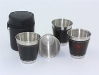Wholesale Wholesale Wine Bags China - Wholesale- 4Pcs bag 70ml CCCP Flagon Cups Set 304 Stainless Steel Cups Wine Beer Whiskey Mugs Outdoor Portable Travel Drinking Cup
