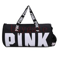 Wholesale Cotton Tartan Fabric Wholesale - 14 Colors Brand New VSX Men Women Handbags Pink Letter Large Capacity Travel Duffle Striped Waterproof Beach Bag Shoulder Bag 30pcs lovebag
