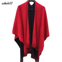 Wholesale Cashmere Ponchos Sale - Wholesale- Fashion Echo657 Hot Sale Newly Fashion Women Winter Knitted Cashmere Poncho Capes Shawl Cardigans Sweater Coat Dec 7