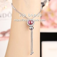 S925 joyería de moda de plata esterlina Rose red cat's eye CZ pulsera de cuentas ajustables Fit European DIY charm beads