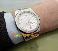 Wholesale Super White 41mm - Super Clone Luxury 41mm 15400ST White Dial Authentic Asian 2813 Automatic Mens Watch Day Date Gents Watches Sapphire Glass AP21