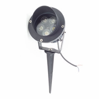 Wholesale led inground 12v - 5X1W High Power LED Path Spot Light With Base or Spike LED Lawn Spike Light LED Inground Flood light