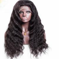 dantel ön peruk insan ıslak dalgalı toptan satış-Su dalgası tam / ön dantel peruk Brezilyalı tam dantel insan saçı siyah kadın için peruk ve ıslak dalgalı dantel ön insan saçı peruk