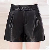 Wholesale Harem Leather - Women's Shorts High Waisted Hot faux leather Pants shorts women