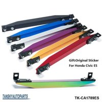 Wholesale Stickers For Controls - SUBFRAME LOWER TIE BAR ES REAR with BEAKS Sticker FOR HONDA CIVIC 02-05 ES (Silver,Gold,Blue,Red,Purple,Black.Neochrome ) TK-CA1789ES
