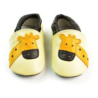 Wholesale Infant Giraffe - Baby Moccasins Giraffe Cartoon Genuine Leather Prewalker Shoes First Walking Shoes Soft Sole Anti-slip Infant Shoes
