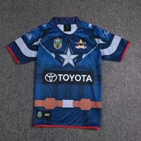 Wholesale Purple Cowboy Wine - Top Thai quality North Queensland Cowboys 2017 NRL Captain America Marvel Ltd Edition Rugby Shirt 2017 18 Cowboys rugby shirts size S-3XL