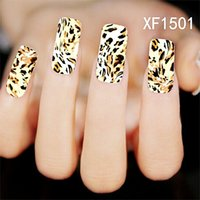 Wholesale Nails Design Flowers - Can Mix Design Water Transfer Nails Art Sticker Decals Flower Plaid Leopard Mosaic lady women manicure tools Nail Wraps Decals