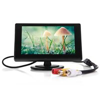Wholesale Backup Dvd Video - High Definition 4.3 inch TFT LCD Parking Car Rear View Monitor Car Rearview Backup Monitor 2 Video Input for Reverse Camera DVD