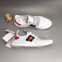 Wholesale Small Size Shoes Women - 2017 Size 36-45 NMD Boost X G embroidery Small Bee Casual Sneakers For Men and Women Lightweight Breathable Sport Running Shoes
