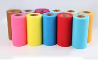 """Wholesale japan fabric roll - TULLE Roll Spool 6"""" x 25Y Tutu Wedding Gift Bow Craft Bridal Decorating 22 color 10 p"""