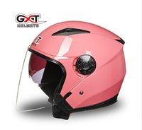 Wholesale Electric Dirt Motorcycle - 2017 new GXT G512 dual visor dirt biker helmets for women, electric motorcycle MOTO bicycle scooter safety helmet headpiece red pink