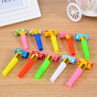 Grossiste-6.5cm30PCS Fête d'anniversaire MultiColor Party Blowouts Sifflets Kids Favors Décoration Fournitures Noice fabricant Jouets Goody Sacs Pinata