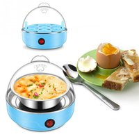 350W 220V 7 Eggs and More 220V 50HZ Multifunctional Electric 7 Egg Boiler Cooker Mini Steamer Poacher Kitchen Cooking Tool US Plug 350W Light Blue