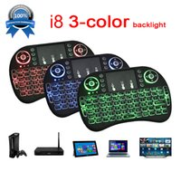 Wholesale Usb Game Pad - Mini Keyboard Backlit Mouse Multi-touch Pad 2.4G Rii i8+ Wireless Game Keyboard Fly Air Mouse Remote for MXQ Andriod TV Box IPTV