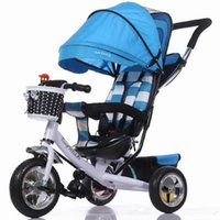 Wholesale Tricycle Stroller Bike - Wholesale- Stroller Portable Baby Strollers rubber child tricycle trolley baby stroller baby carriage bike bicycle for 6 month-6 years old