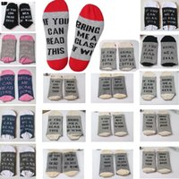 Wholesale Print Reading Glasses - IF YOU CAN READ THIS Bring Me a Glass of Wine Beer socks winter socks Christmas socks men women unisex 18 colors 1pair=2pcs