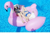 Wholesale Kids Swimming Item - Giant Inflatable flamingo Pool float inflatable unicorn adult children Swimming ring inflatable Swan donut Water Pool Toys Floating Row
