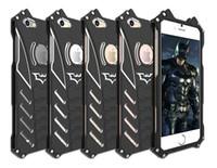 Wholesale Batman Iphone 5c Case - R-just Design Metal Aluminum LuxuryTough Armor THOR Batman Phone Cases for IPhone 5C 5S 6 6S plus 7  Plus 7 plus Housing Cover