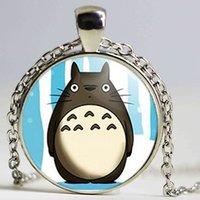 Wholesale E Chain - new hot Silver Chain My Neighbor Totoro Collane e Ciondoli Vintage Totoro Japanese Animated Fantasy Film Colar