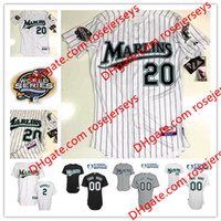 Wholesale Custom Florida Marlins World Series Miguel Cabrera white gray Ivan Rodriguez Dontrelle Willis Burnett black sewn on men jerseys