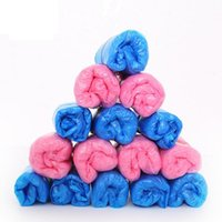 Wholesale Medical Plastic Bags - 50pcs lot Disposable disposable shoe covers Blue pink plastic PE cleaning food industry medical hospital room Shoes Cover 50pair bag