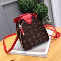 Wholesale Lantern Shoulder - Luxury Handbag Women Crossbody Bag PU Leather Shoulder Vintage Floral Lantern Purses Totes Shell Designer Handbags High Quality Clutch