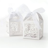 Wholesale Laser Cut Favor Boxes Bird - Wholesale-Laser Cut Wedding Sweets Love Bird Wedding Favor Candy Gifts Box 50PCS New L1