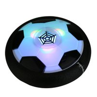 Wholesale LED Suspension Football Indoor Sport Levitate Football Toys Air Power Soccer Ball For Parent child Interaction Decompression Toy