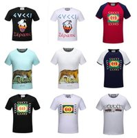 Wholesale High End T Shirts - summer new high-end women and men's t-shirt fashion Sweatshirts short sleeve snake printing t shirt Brand G Unisex Tops Tees 20 styles