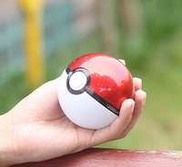 Wholesale Ar Ball - Poke go ball power bank 10000 mAh for AR game pokeball powerbank With LED Light Portable Charge Figure Toys For iPhone Samsung