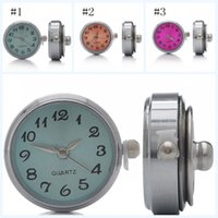 Barato Relógios De Pulso-24x21.5x12mm Noosa Crystal Buttons 3 Color Mini Watch Button Botas Round Round Chunk DIY Ginger Snap Button N56S