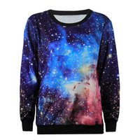 Wholesale Plus Size Galaxy Sweater - 2017 New Arrival Fashion 3D Printed Trendy Max Galaxy Pattern Female Sweater Long Sleeve Women Top Shirts Plus Size High Quality