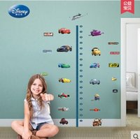 Wholesale Growth Wall Sticker - Cartoon car waterproof wall stickers children bedroom self-adhesive removable measure height growth charts wallpaper stickers